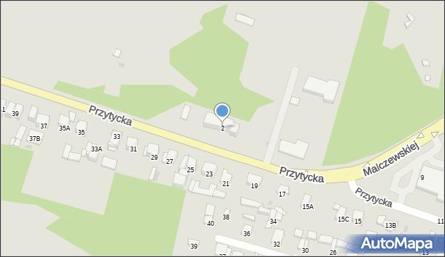 Radom, Przytycka, 2, mapa Radomia