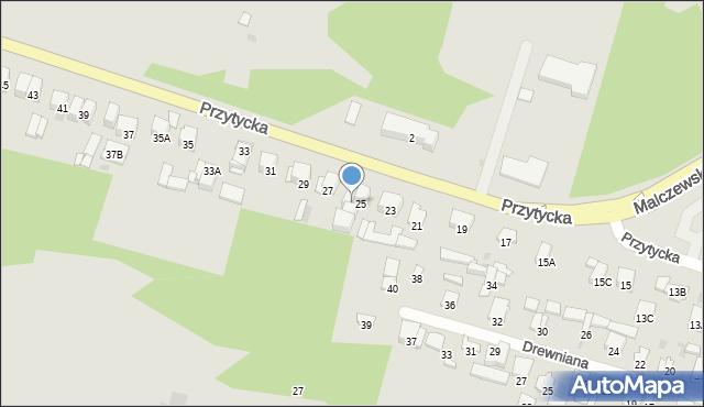 Radom, Przytycka, 25A, mapa Radomia