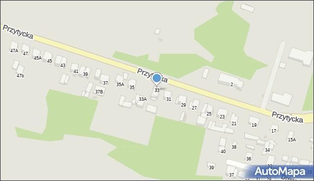 Radom, Przytycka, 33, mapa Radomia
