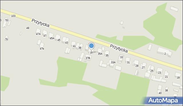Radom, Przytycka, 37, mapa Radomia