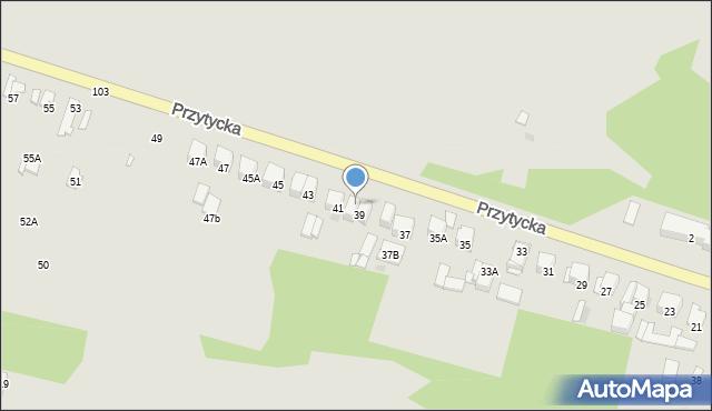 Radom, Przytycka, 39A, mapa Radomia