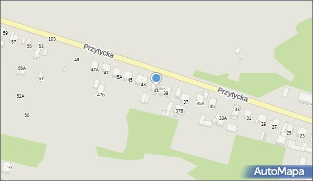 Radom, Przytycka, 41, mapa Radomia