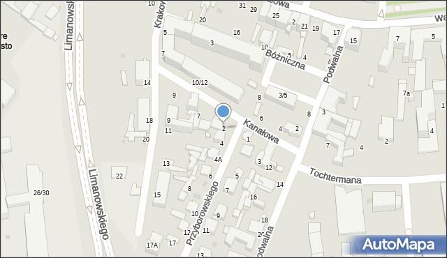 Radom, Przyborowskiego Walerego, 2, mapa Radomia