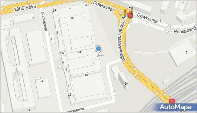 Radom, Przemysłowa, 21, mapa Radomia
