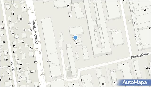 Radom, Przemysłowa, 3A, mapa Radomia