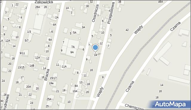 Radom, Przepustowa, 14, mapa Radomia