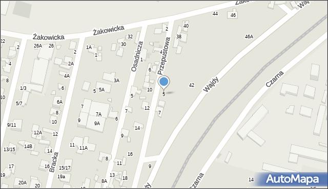 Radom, Przepustowa, 5, mapa Radomia