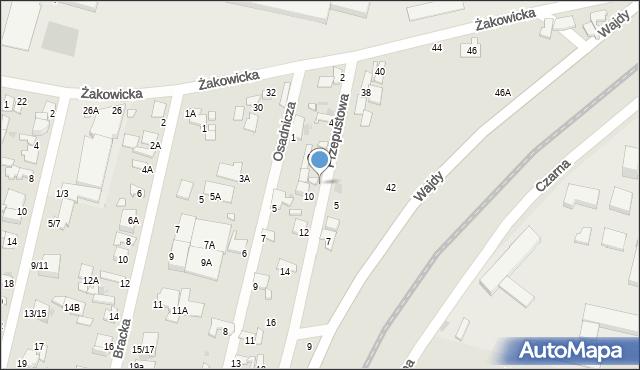 Radom, Przepustowa, 8, mapa Radomia