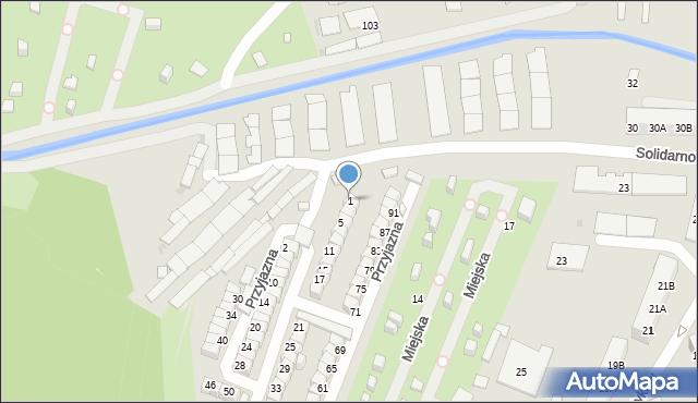 Ruda Śląska, Przyjazna, 1, mapa Rudy Śląskiej