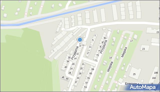 Ruda Śląska, Przyjazna, 2, mapa Rudy Śląskiej