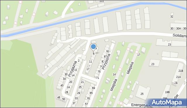Ruda Śląska, Przyjazna, 5, mapa Rudy Śląskiej