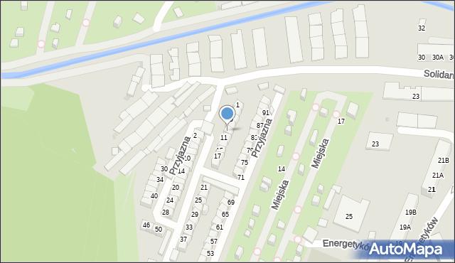 Ruda Śląska, Przyjazna, 9, mapa Rudy Śląskiej