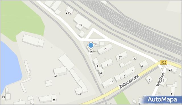 Ruda Śląska, Przedtorze, 10, mapa Rudy Śląskiej