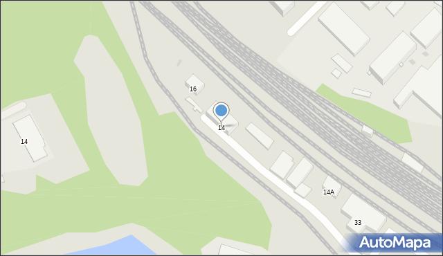Ruda Śląska, Przedtorze, 14, mapa Rudy Śląskiej
