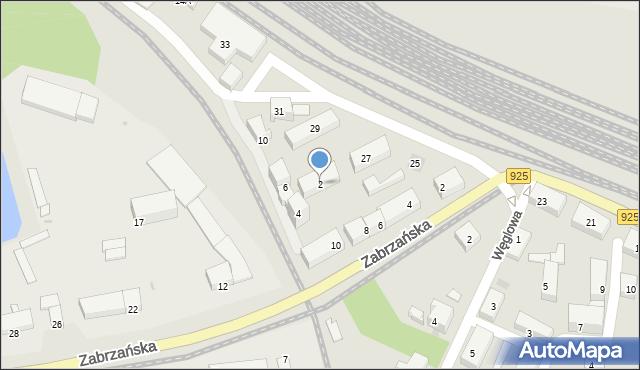 Ruda Śląska, Przedtorze, 2, mapa Rudy Śląskiej