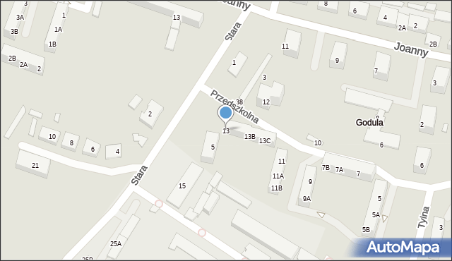 Ruda Śląska, Przedszkolna, 13, mapa Rudy Śląskiej