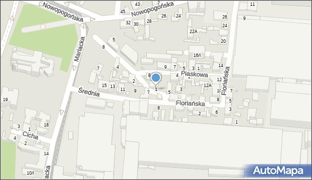 Sosnowiec, Przechodnia, 1, mapa Sosnowca