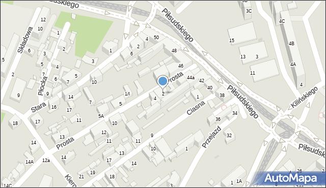 Sosnowiec, Prosta, 2, mapa Sosnowca