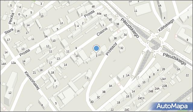 Sosnowiec, Przejazd, 1, mapa Sosnowca
