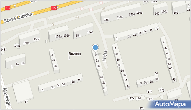 Toruń, Prejsa Juliana, 2, mapa Torunia