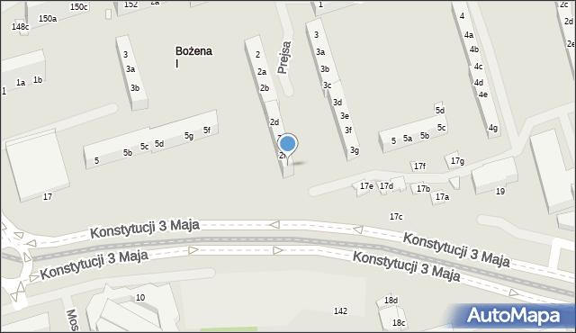 Toruń, Prejsa Juliana, 2g, mapa Torunia