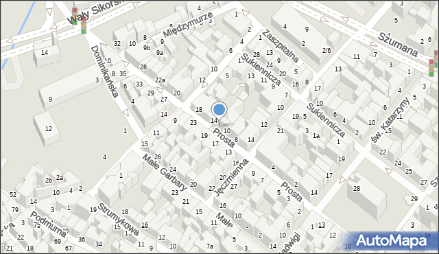 Toruń, Prosta, 12, mapa Torunia