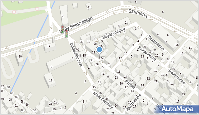 Toruń, Prosta, 24, mapa Torunia