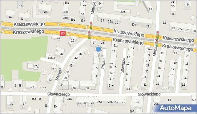 Toruń, Prusa Bolesława, 9, mapa Torunia