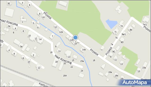 Toruń, Przelot, 14, mapa Torunia