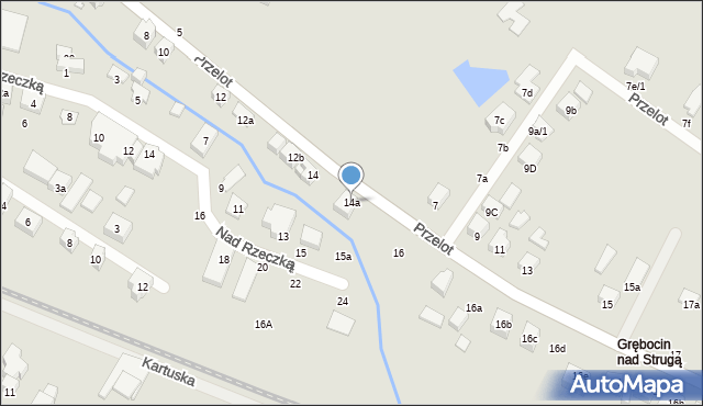 Toruń, Przelot, 14a, mapa Torunia