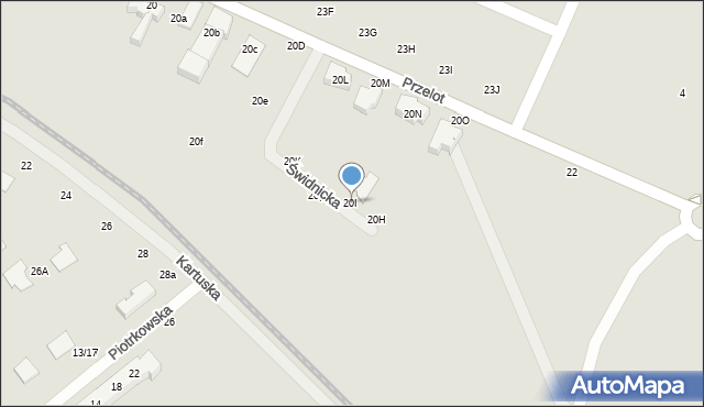 Toruń, Przelot, 20I, mapa Torunia