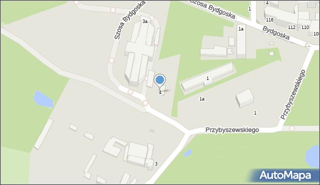 Toruń, Przy Cegielni, 4, mapa Torunia