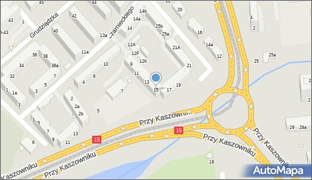 Toruń, Przy Kaszowniku, 15, mapa Torunia
