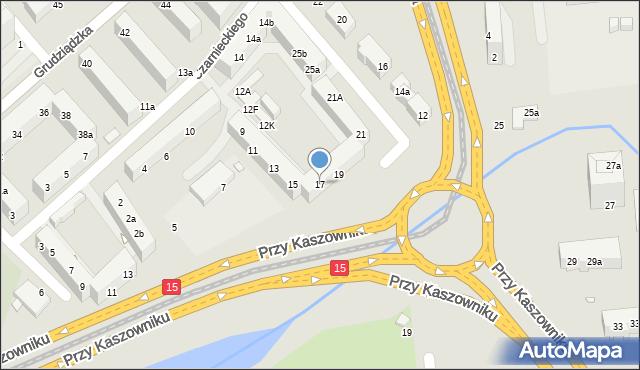 Toruń, Przy Kaszowniku, 17, mapa Torunia