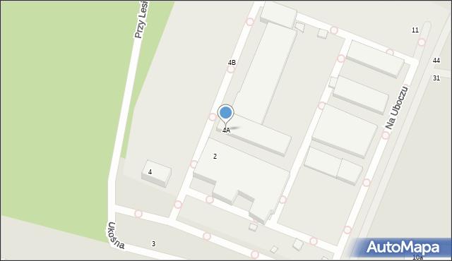 Toruń, Przy Lesie, 4A, mapa Torunia