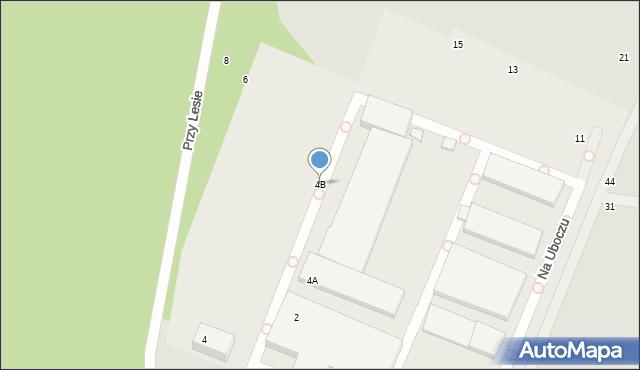 Toruń, Przy Lesie, 4B, mapa Torunia