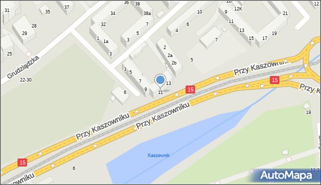 Toruń, Przy Rynku Wełnianym, 11, mapa Torunia