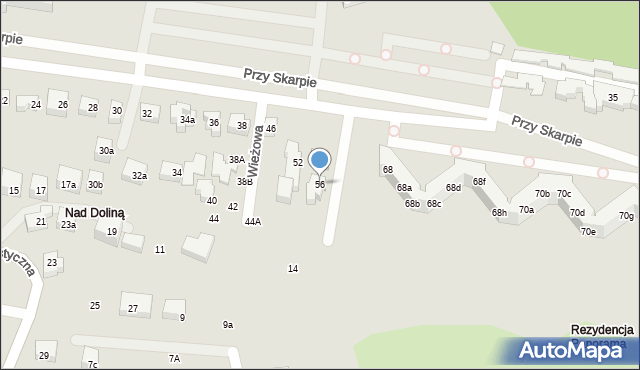 Toruń, Przy Skarpie, 56, mapa Torunia