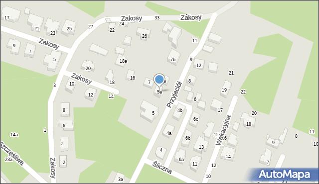 Toruń, Przyjaciół, 5a, mapa Torunia