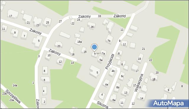Toruń, Przyjaciół, 7, mapa Torunia