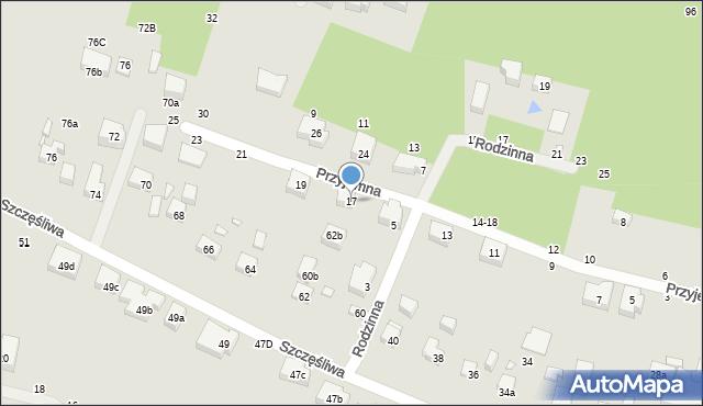 Toruń, Przyjemna, 17, mapa Torunia