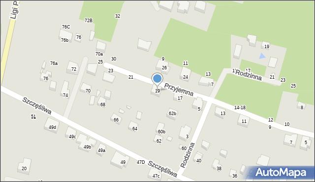 Toruń, Przyjemna, 19, mapa Torunia