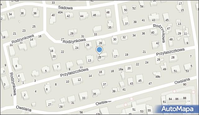 Toruń, Przylaszczkowa, 15, mapa Torunia
