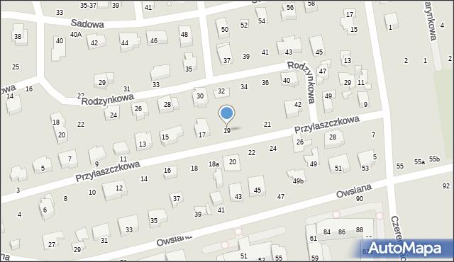 Toruń, Przylaszczkowa, 19, mapa Torunia