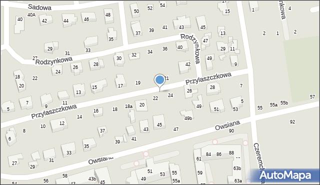 Toruń, Przylaszczkowa, 22a, mapa Torunia