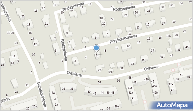 Toruń, Przylaszczkowa, 6, mapa Torunia