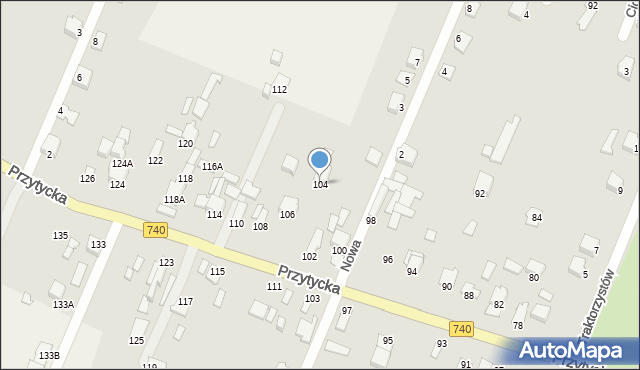 Wacyn, Przytycka, 104, mapa Wacyn