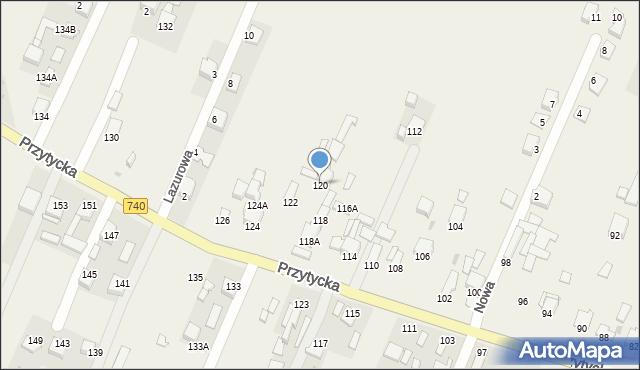 Wacyn, Przytycka, 120, mapa Wacyn
