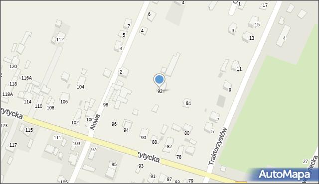 Wacyn, Przytycka, 92, mapa Wacyn