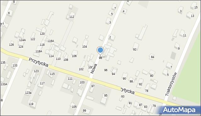 Wacyn, Przytycka, 98, mapa Wacyn